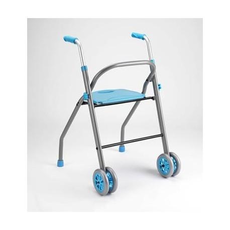 Diresa Device - FedBuy: Andador modelo Futura, de aluminio, con ruedas y asiento. Resistencia extra.