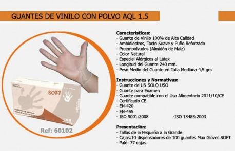 Guantes desechables de vinilo con polvo   Sin látex   Uso sanitario   Caja de 1000 unidades   Diresa Device - FedBuy