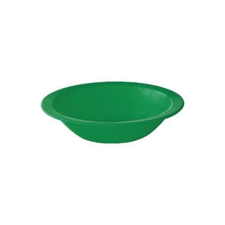 Vajilla de colores | Plástico irrompible | Cuenco de color verde | Menaje para residencias y comedores escolares: FedBuy