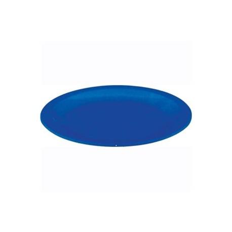 Plato de policarbonato de 17 cm   Irrompible   Color azul   Perfecto para comedores escolares, centros de día o residencias