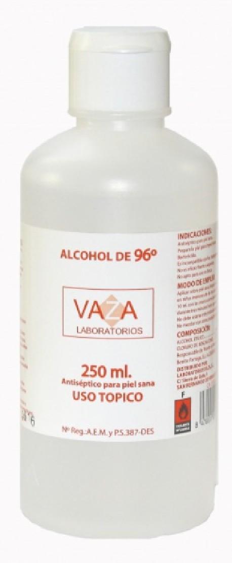 Alcohol 96º 250 ml | Desinfectar alrededores de herida | Bactericida | Diresa Device - FedBuy
