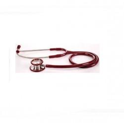 Fonendoscopio Pediátrico. Doble Campana de Acero Inox. Color Rojo