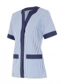 Camisola pijama a rayas de manga corta
