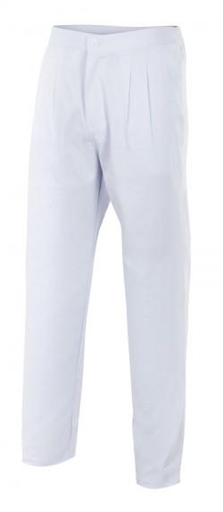 Pantalón pijama con pinzas color blanco