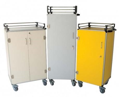 Carro para transportar bandejas de medicación | Capacidad: 40 - 54 - 72 | Carro de hospital | Diresa Device - FedBuy