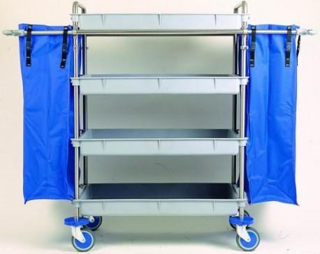 Carro de lavandería | Perfecto para residencia, clínica u hotel | Varias bandejas y bolsas | Equipos para residencias: FedBuy