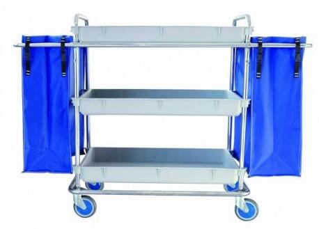 Carro de lavandería para centro sanitario | Bandejas y bolsas | Productos para residencia de mayores: FedBuy