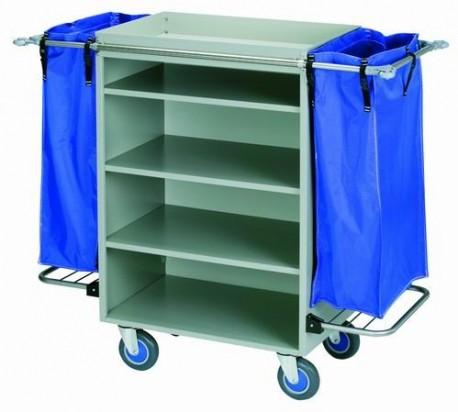 Servicio integral para residencias: FedBuy | Carro de Lavandería con planchas de aluzinc y bandeja | Soporte para bolsas