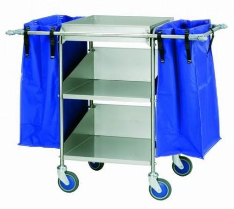 Carro de lavandería | Ideal para residencias y centros sanitarios | Acero inoxidable | Tres bandejas | Diresa Device - FedBuy