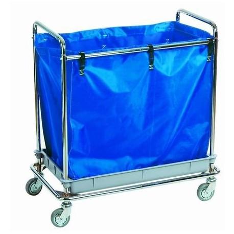 Carro recogida de ropa | Transportar ropa en residencia, hospital u hotel | Bolsa de 252 L | FedBuy: todo para residencias