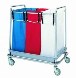 Carro para transporte de ropa | Tres bolsas para organizar | FedBuy: equipo auxiliar para residencias