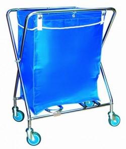 Carro para recogida de ropa | Plegable | Bolsa 135 L | Estructura de acero | Proveedores sanitarios: FedBuy