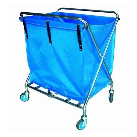 Carro pequeño para recogida de ropa | Estructura de acero | Bolsa de 195 L | Perfecto para residencia de ancianos o clínica