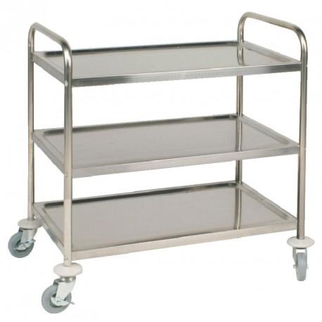 Carro de hospital | Estructura de acero | Tres baldas o estantes | Cuatro ruedas | Equipos sanitarios auxiliares en FedBuy