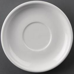 Plato de postre | Plato de café | Fabricado en loza | 146 mm de diámetro | FedBuy: suministros y materiales para residencia