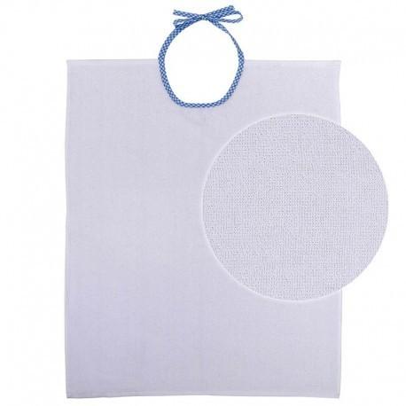 Babero de Rizo Doble | Tejido tipo toalla | Cierre de lazo de cuadros | 50 x 70 cm | FedBuy: todo para los mayores