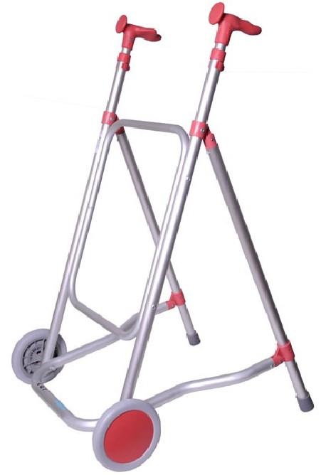 Diresa Device - FedBuy: Andador de aluminio con ruedas | Modelo Forta Car | Color Rosa