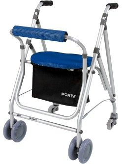Rollator de aluminio | Modelo Kanguro de Forta | Ideal para exteriores | Color azul | 4 ruedas | Diresa Device - FedBuy
