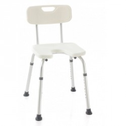Silla de ducha con respaldo y asiento en herradura