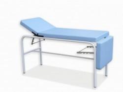 Camilla fija | Estructura de acero lacado en blanco | Tapicería skay | Mobiliario Clínico: Diresa Device - FedBuy