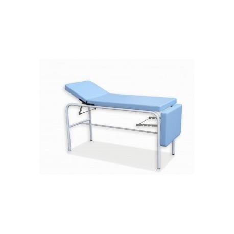 Camilla fija   Estructura de acero lacado en blanco   Tapicería skay   Mobiliario Clínico: Diresa Device - FedBuy