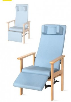 Sillón de madera   Respaldo reclinable y reposapiés   Hogar o habitación de hotel, residencia geriátrica u hospital   FedBuy