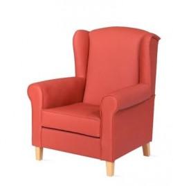 Sillón orejero   Estilo clásico   Estructura de madera   Tapicería color a elegir   Compra tu mobilario en FedBuy