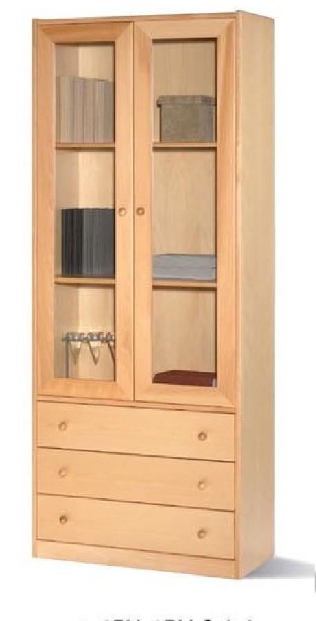 Estantería librería de 2 cuerpos | Fabricada en madera o melamina | Perfecta para el salón del hogar | Diresa Device: Mobiliario