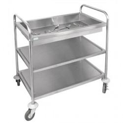 Carro hospitalario | Tres baldas | Material para residencia de ancianos o centro de día en FedBuy