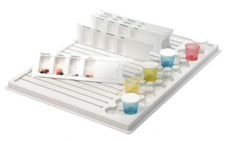 Dispensador de medicación | Compatible con bandejas | Separación por comidas | Diresa Device: Material Sanitario