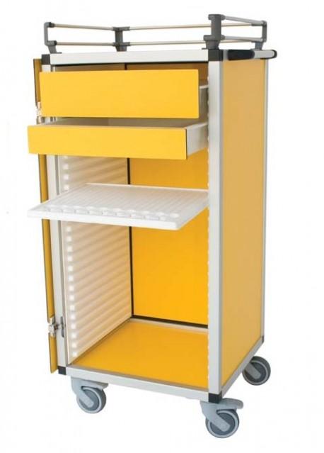 Carro de medicación | Calidad y acabados | Para residencia o clínica | Capacidad: 9 bandejas/4 cajones | Diresa Device - FedBuy