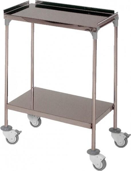 Mesa auxiliar con ruedas   Clínica o consulta médica   Dos bandejas   80x60x40 cm   Material médico y mobiliario clínico: Diresa