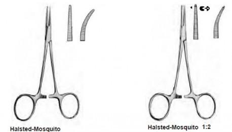 Pinza Hemostática Halsted Mosquito | Curva, punta sin dientes | Acero Inoxidable | Gran relación calidad/precio | Diresa Device
