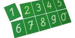 Tajetas Táctiles Números