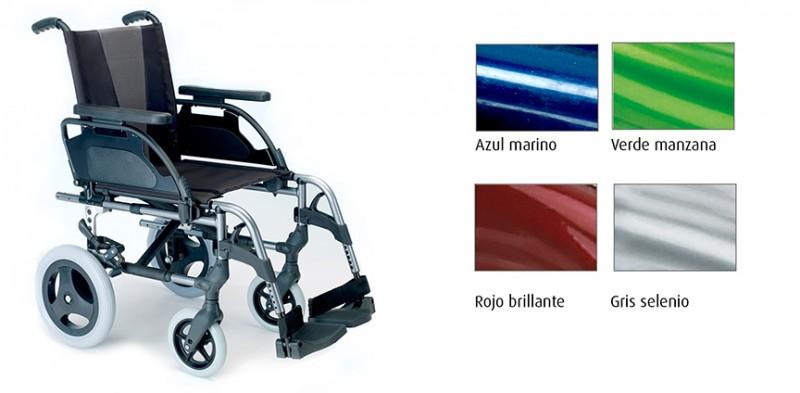breezy 300 silla de ruedas plegable roja