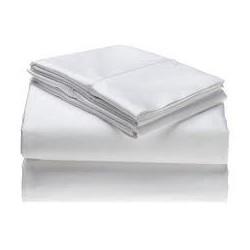 Juego de sábanas | Color blanco o celeste | Cama de 90 | Ideal residencias y clínicas | FedBuy: proveedor de residencias