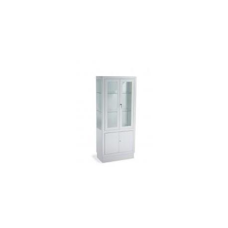 Mueble mixto: Armario y vitrina | Vitrina con estantes de cristal | Puertas con cerradura | Amuebla tu consulta con FedBuy