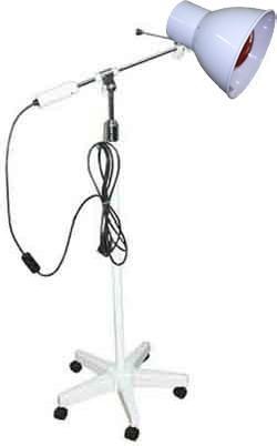 Lámpara de infrarrojos Foco 3000 INFRA | 250 W | Brazo articulado para enfocar calor | Base rodable | Diresa Device