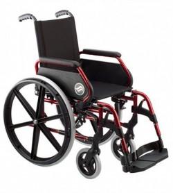 Silla de ruedas Breezy 250   Rueda trasera grande   Plegable   Color rojo verano   Silla de ruedas en FedBuy