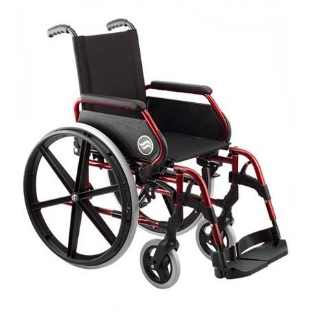 Silla de ruedas Breezy 250 | Rueda trasera grande | Plegable | Color rojo verano | Silla de ruedas en FedBuy