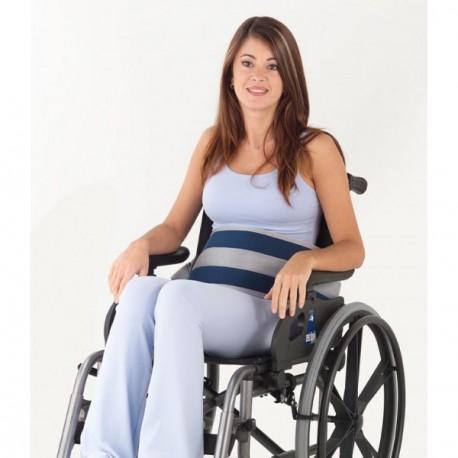 Sujeción a silla de ruedas   Cinturón abdominal   Cierre magnético   Todo tu material ortopédico para particular o residencia
