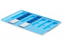 Bandeja de medicación Mod. 591 | Fabricada en Poliestireno | Para hospitales y residencia | Capacidad: 7 Blíster | Diresa Device