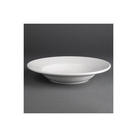 Plato de porcelana | Hondo, especial para sopa | 23 cm de diámetro | FedBuy: Menaje para hostelería y centros sanitarios.
