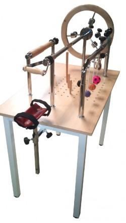 Diresa Device - FedBuy: Mesa para ejercitar manos, dedos y tendones. Diferentes juegos de rehabilitación.