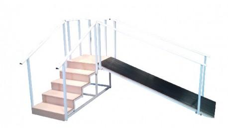 Diresa Device - FedBuy: Escalera con plano inclinado. 5 peldaños.