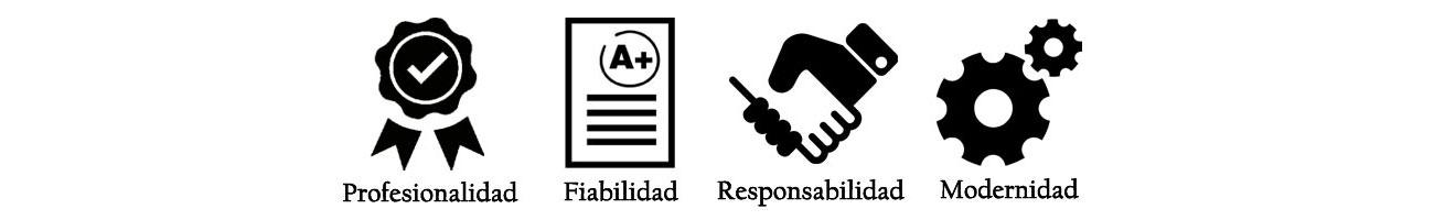 Valores de FedBuy: Profesionalidad, Fiabilidad, Modernidad, Responsabilidad