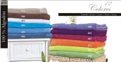 Toalla de lavabo rizo 100 % algodón 500 gr. Blanco o colores 50x95