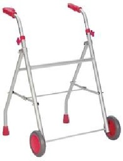 Diresa Device - FedBuy: Andador para adultos. Con ruedas, de aluminio. Color rosa.