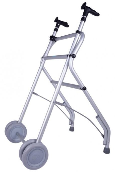 Andador para adultos ultraligero | Fabricado en aluminio | Con ruedas | Color negro | Diresa Device - FedBuy