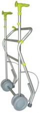 Andador de aluminio | Modelo Forta Air | Color Lima | Ruedas delateras dobles | Diresa Device - FedBuy